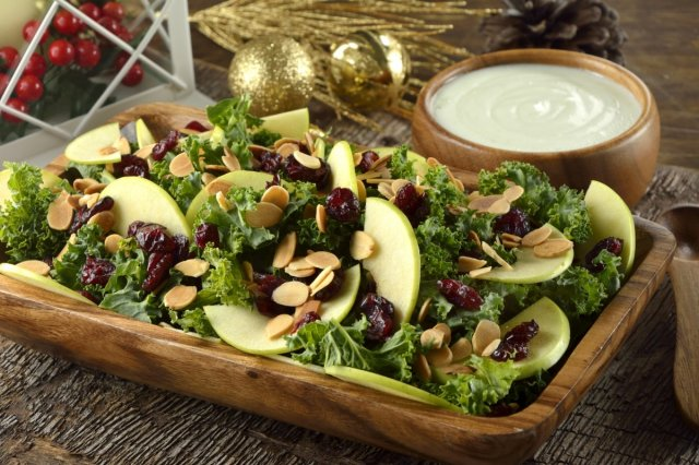 Salad of Kale, Cranberry and Almond