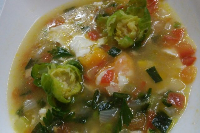 Vegetable and Egg Soup