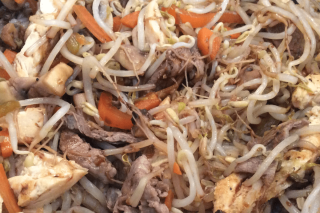 Chop Suey of Meat and Chicken