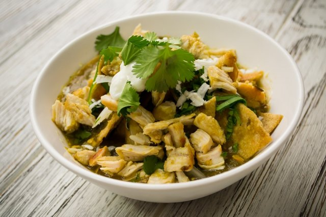 Light Chilaquiles with Chicken