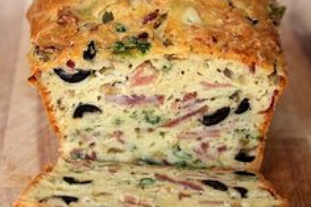 Cake of Olives and Bacon