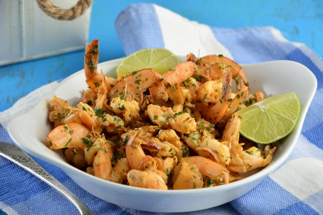 Garlic Mojo Shrimp Marinated in Spicy Sauce