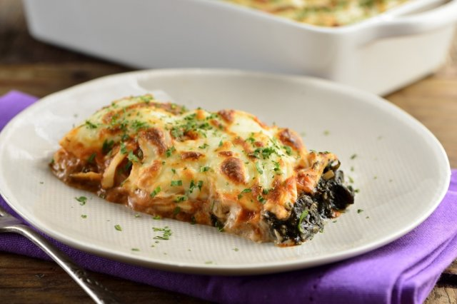 Red Enchiladas stuffed with Huitlacoche