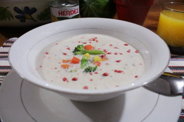 Cream with Vegetables from the Garden
