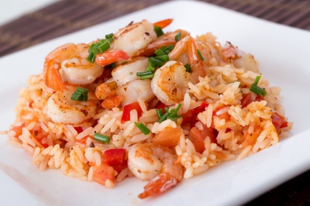 Rice with Mexican Shrimp