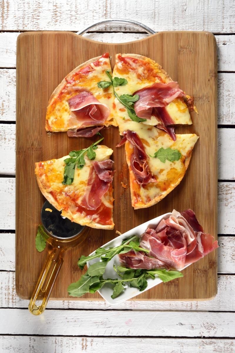 Pita Pizza With Serrano Ham
