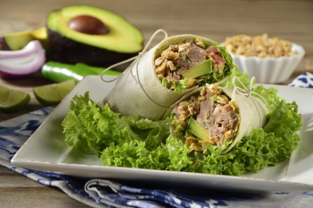 Avocado, Granola and Picosito Tuna Wrap