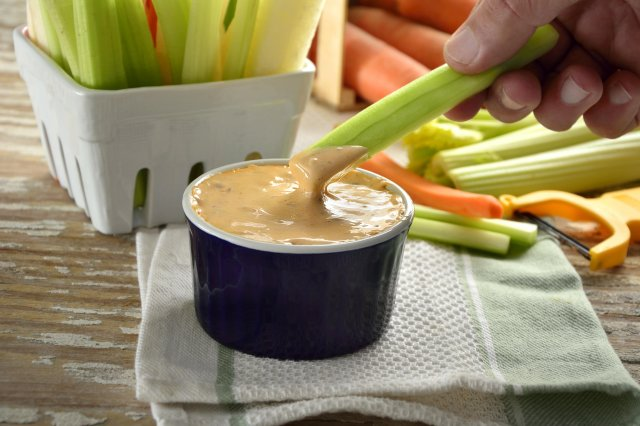 Jícama, Carrot and Celery Appetizer with Chipotle Dressing