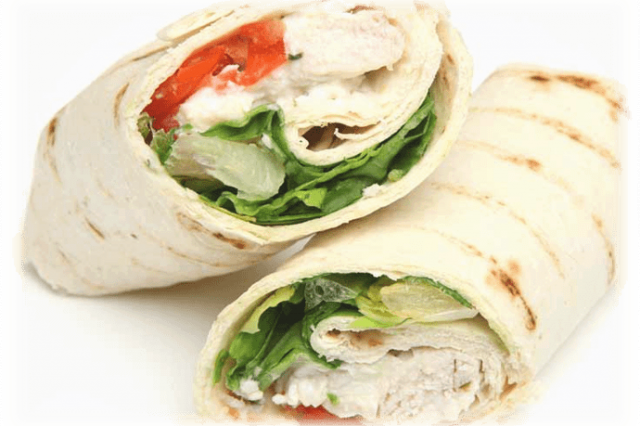 Vegetable Wrap with Chicken