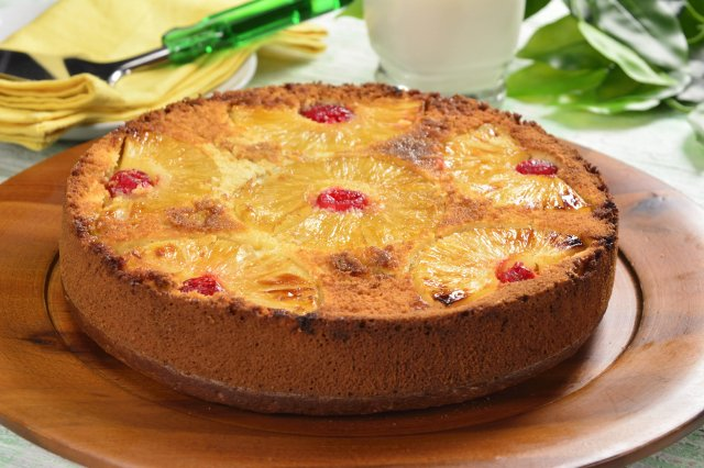 Flipped Pineapple Pie with Cherries