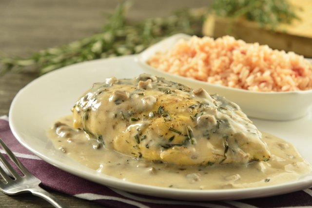Chicken in Mushroom and Spice Sauce