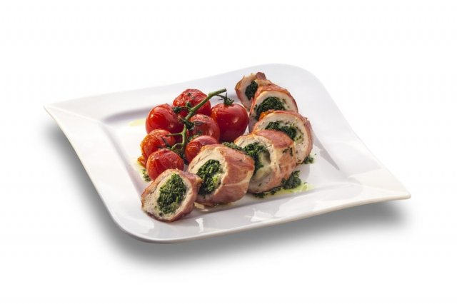 Chicken Rolled with Serrano Ham and Goat Cheese