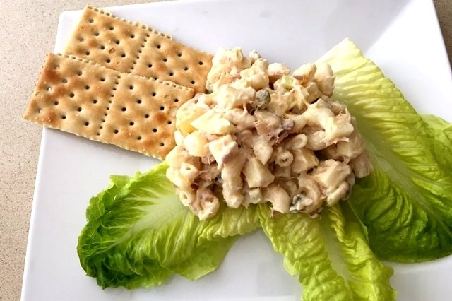 Sea and Pasta Salad with Homemade Mayonnaise