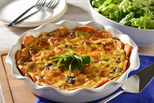 Vegetarian Quiche with Sweet Potato