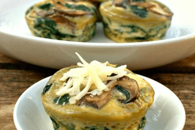 Quiche Mini de Espinacas