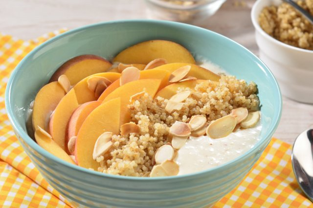 Peach and Quinoa Bowl