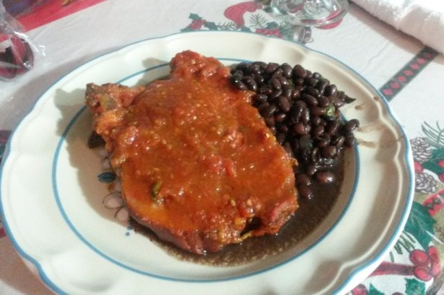 Smoked Chop in Red Sauce
