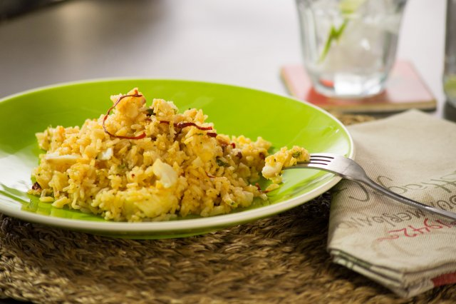 Ajillo Rice with Fish