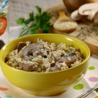 Whole Rice and Quinoa with Mushrooms