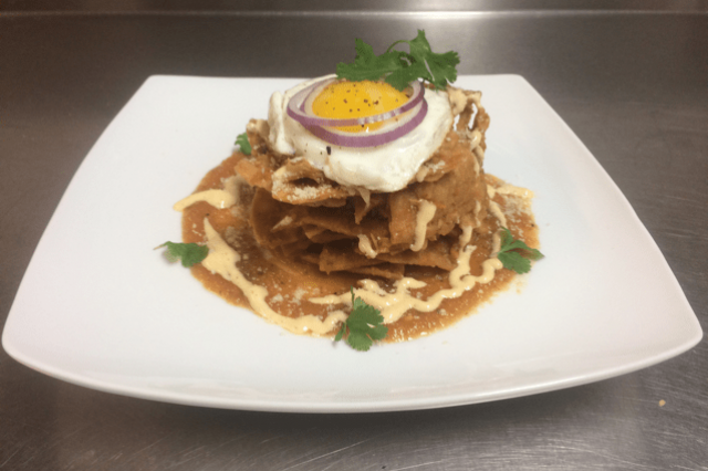 Chilaquiles Red Pancholin style