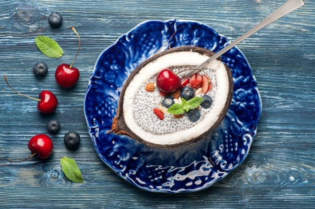 Goji with chia al Coco and Fig Jam