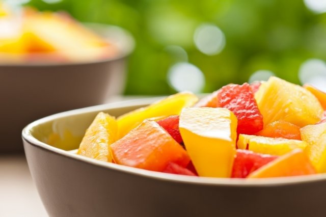Tropical Papaya and Pineapple Salad with Passion Fruit Dressing