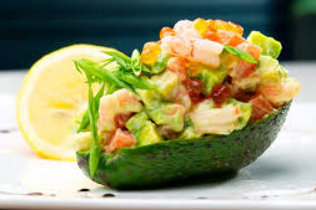 Avocado Stuffed with Vegetables