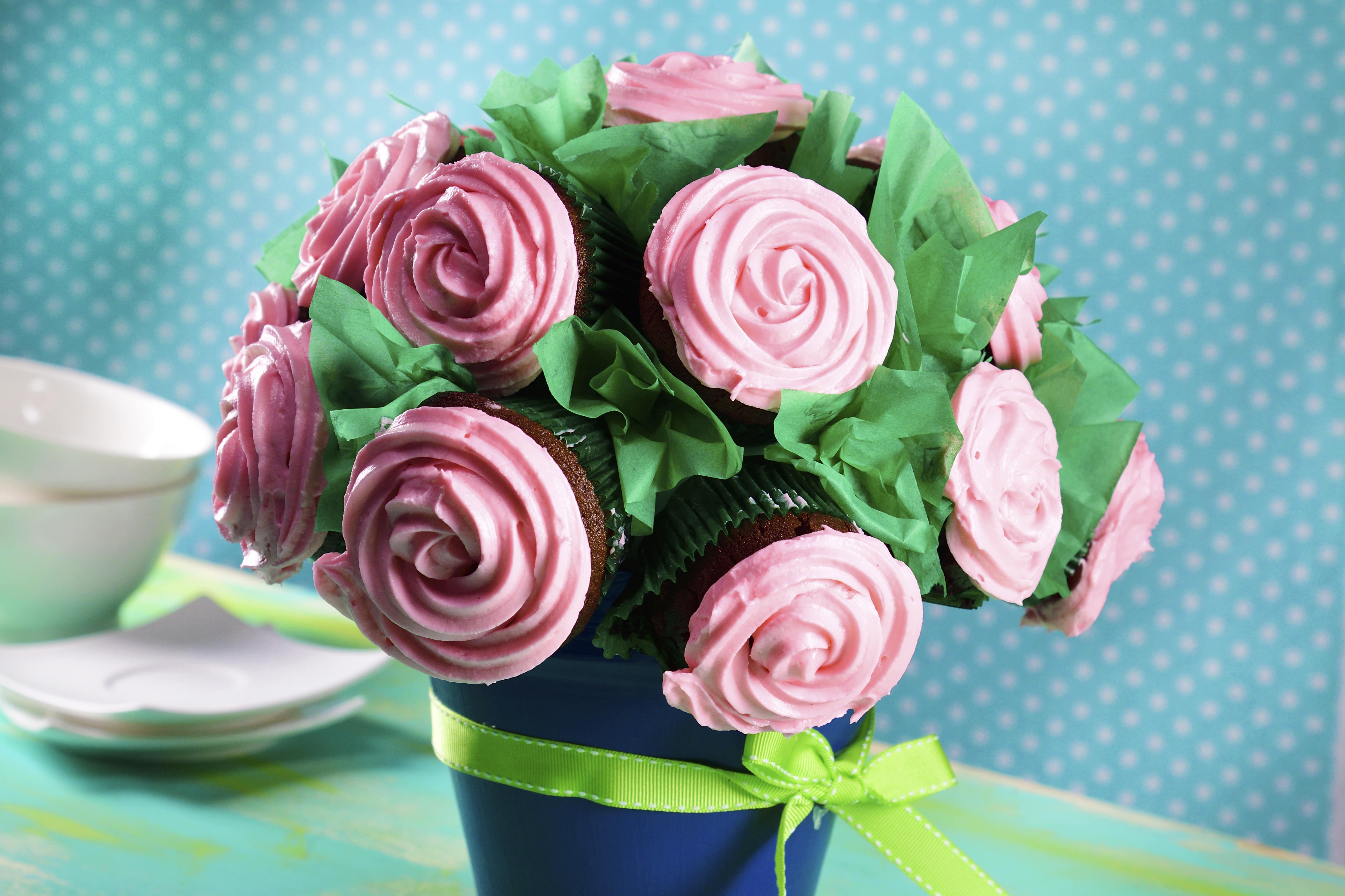 Cupcakes Rosa Bouquet