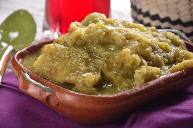 Pork Chicharrón in Green Sauce