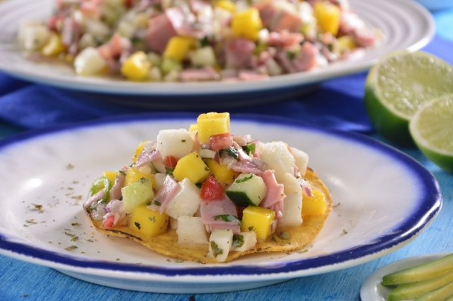Mexican Mango Ceviche with Palm Hearts and Turkey Breast