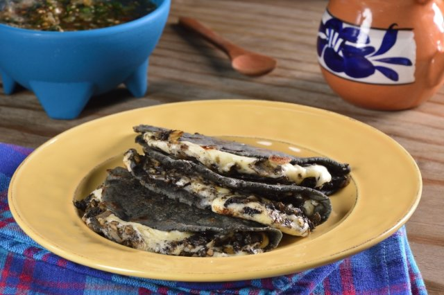 Quesadillas of Huitlacoche with Queso Oaxaca