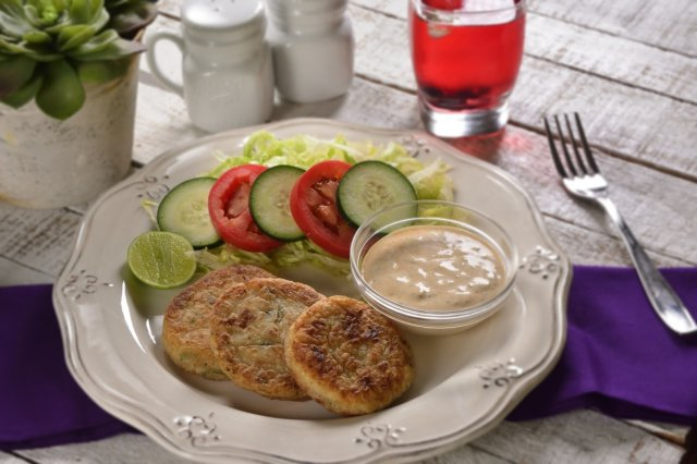Hash Browns with Tuna and White Cheese