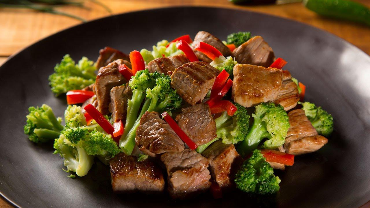 salsa de brocoli con carne