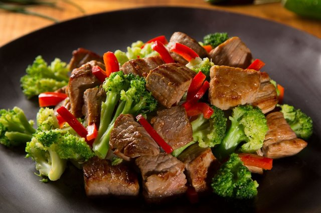 Fajitas of Beef with Vegetables