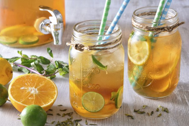 Ice Tea with Citrus and Ginger