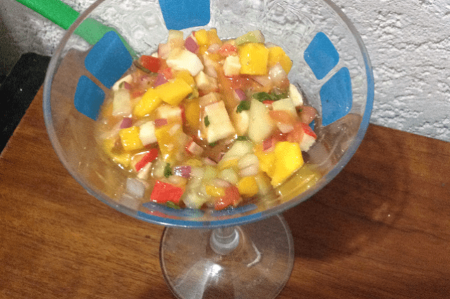 Surimi Ceviche with Mango