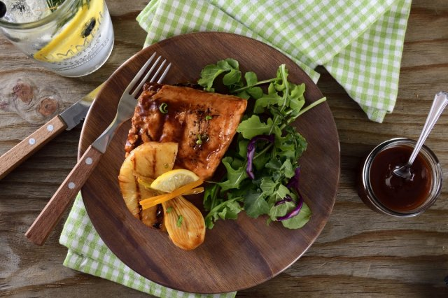 Roasted Pineapple Salmon in Sweet Sauce