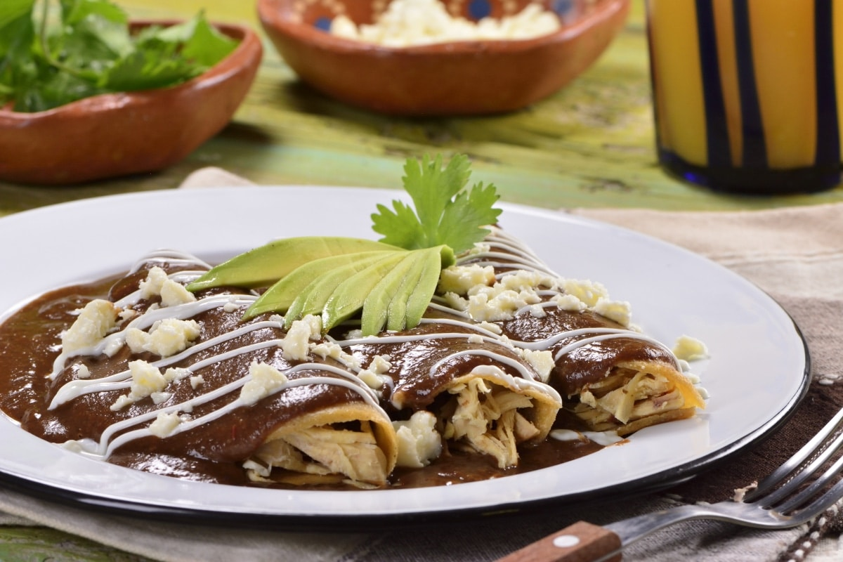 Enfrijoladas with Chipotle