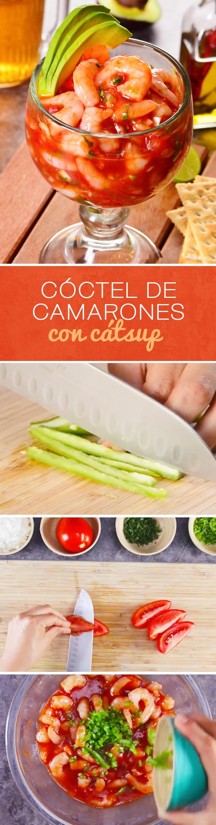 C ctel de camarones con c tsup - Coctel de marisco ingredientes ...