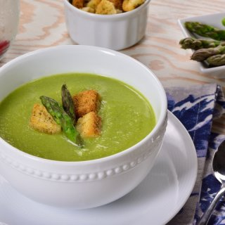 Cream of Asparagus without Dairy
