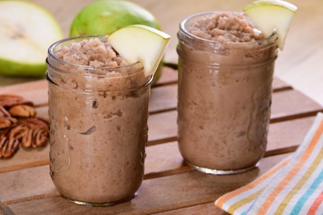 Chocolate Frappé with Pear