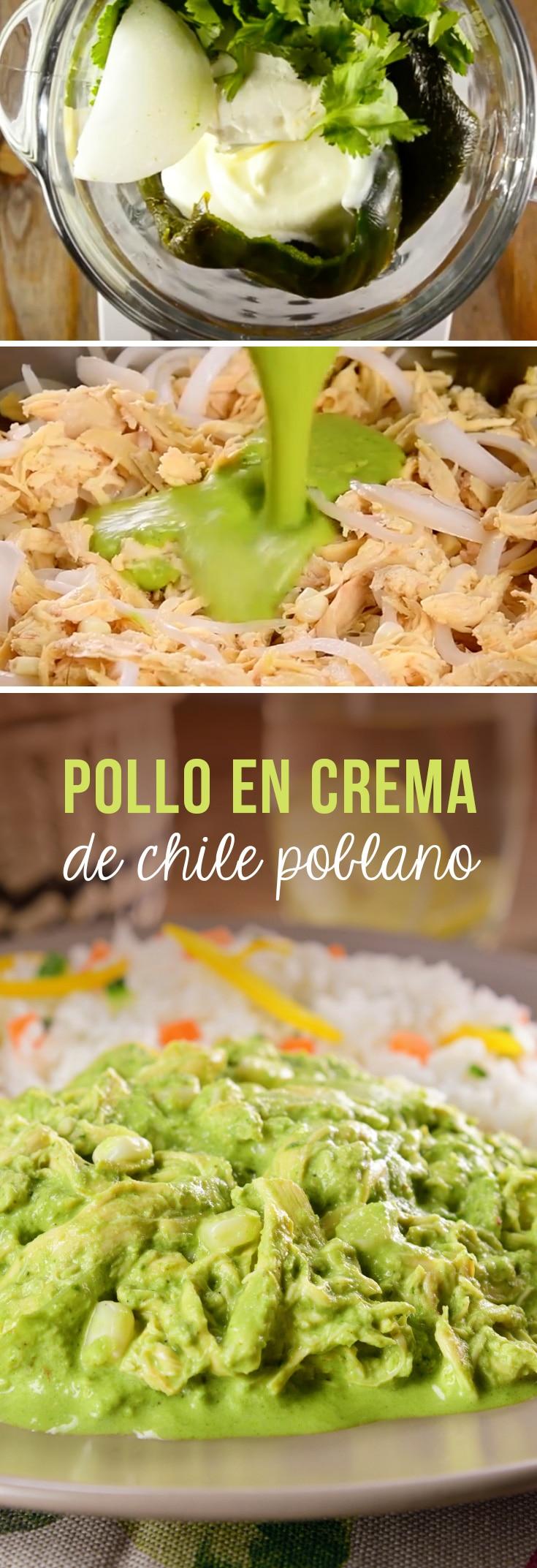 Pollo en Crema de Chile Poblano