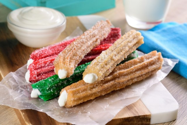 Baked Tricolor Churros