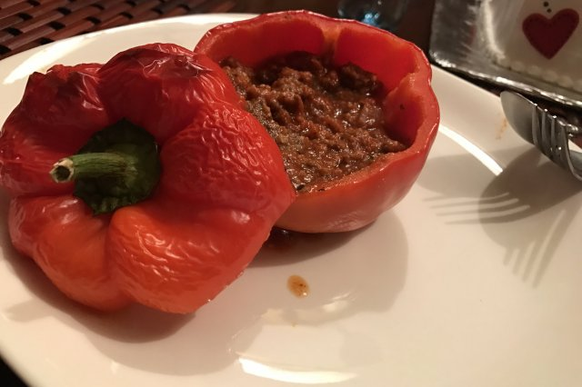 Filled Beef Peppers