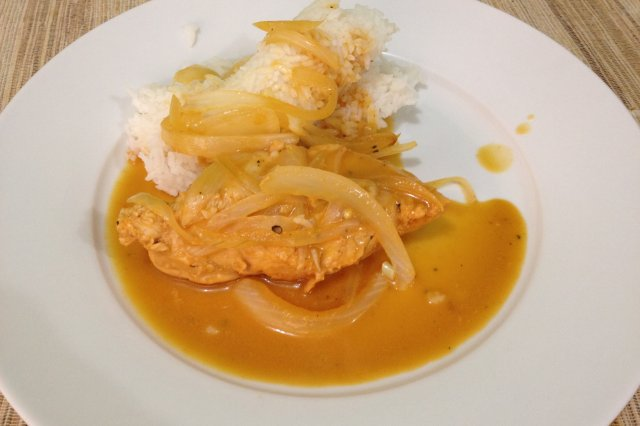 Chicken with Mustard and Sauce in Slow Cooker