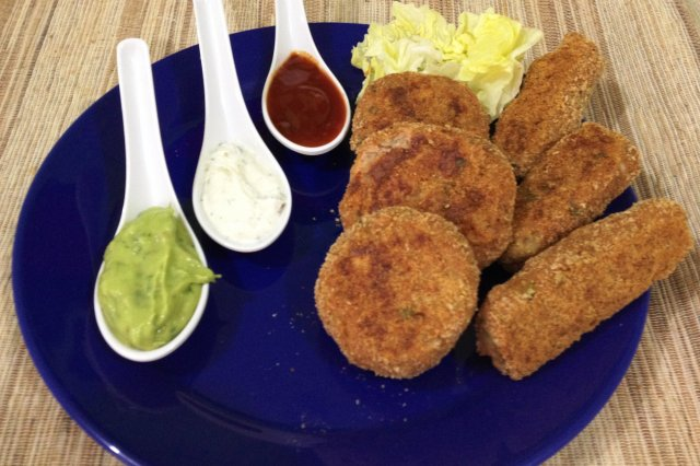 Oven baked croquettes