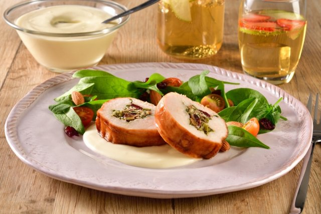 Turkey Breast Stuffed with Spinach and Goat Cheese