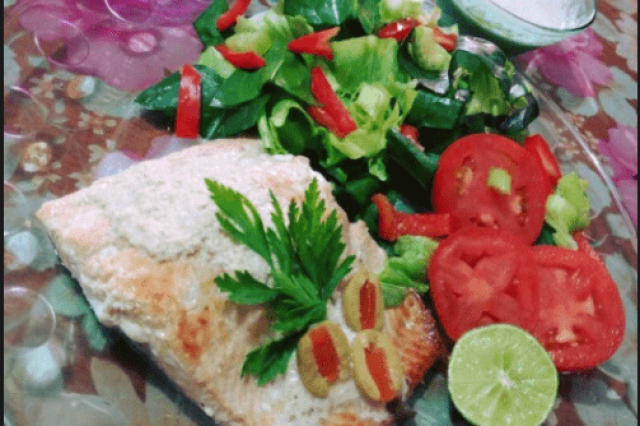 Salmon in Tahini Sauce