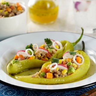 Chilli Stuffed with Tuna with Lemon Vinaigrette