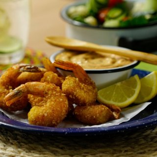 Fried Shrimp with Chipotle Dressing